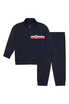 Baby Boys Navy Cotton Tracksuit