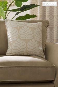 Riva Home Natural Horto Leaf Cushion