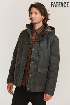 FatFace Green Churston Hooded Jacket