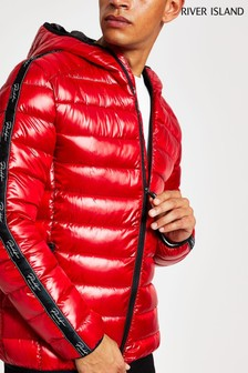 River Island Red Hooded Prolific Liner Jacket