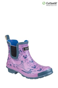 Cotswold Purple Bownham Short Wellington Boots
