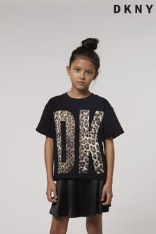 DKNY Black Leopard T-Shirt