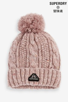 Superdry Gracie Cable Knit Beanie Hat