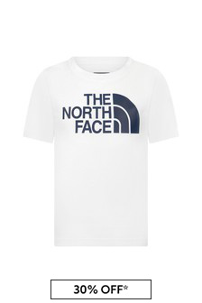 The North Face Boys White Cotton T-Shirt