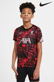 Nike Black/Grey Liverpool Pre-Match T-Shirt