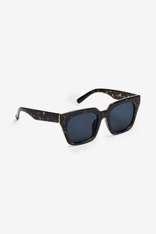 Metal Inlay Angular Frame Polarised Sunglasses