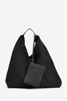 Jute Weave Hobo Bag