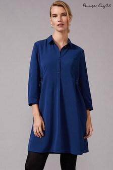 Phase Eight Blue Esi Eyelet Dress