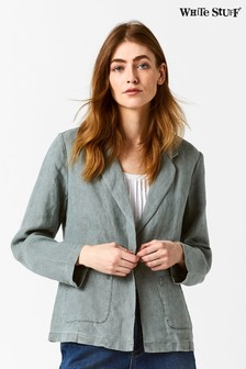 White Stuff Grey Gowan Linen Blazer
