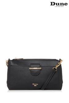 Dune London Black Darlena Crossbody Bag