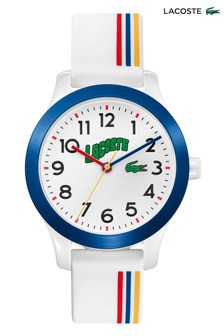 Lacoste White Kids Striped Watch