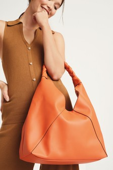 Plaited Handle Hobo Bag