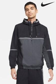 Nike Sportswear Black Colourblock 1/2 Zip Jacket