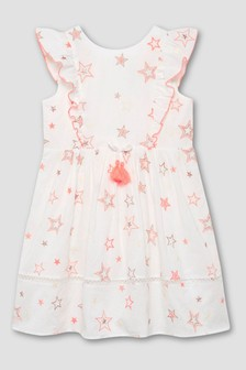 Mintie by Mint Velvet Ivory Embroidered Star Dress