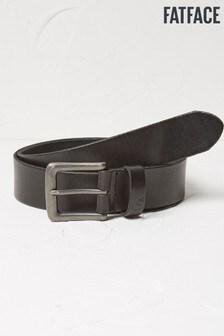 FatFace Black Italian Leather Belt
