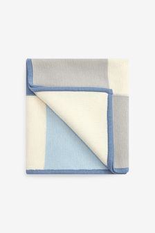 Knitted Patch Blanket (Newborn)