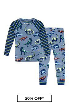 Boys Blue Organic Cotton Pyjamas 2 Piece