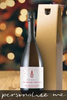 Personalised Neck o The Christmas Prosecco by Signature PG