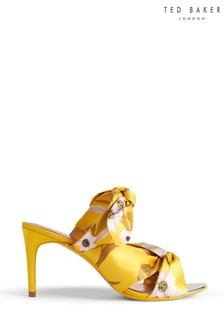 Ted Baker Yellow Printed Mules