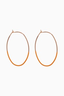 Coated Hoop Earrings