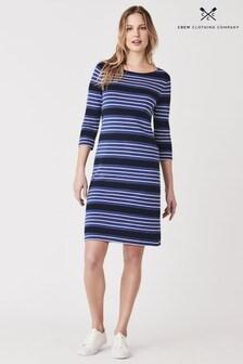 Crew Clothing Blue Wisteria Interlock Breton Dress