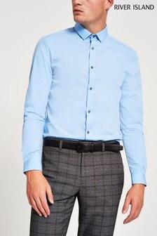 River Island Light Blue Long Sleeve Shirt