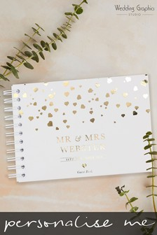 Personalised A5 Confetti Wedding Book by Wedding Graphics