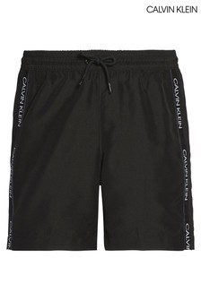 Calvin Klein Black CK Logo Tape Medium Drawstring Trunks