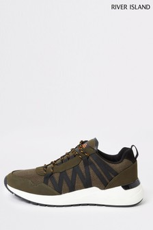 River Island Dark Green Runner Shoes