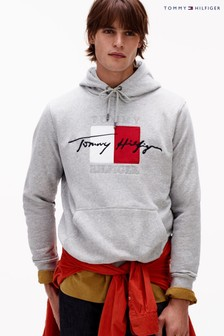 Tommy Hilfiger Grey Signature Artwork Hoody