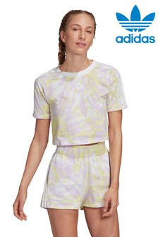 adidas Originals Tie Dye Cropped T-Shirt