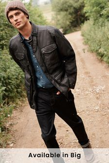 Four Pocket Biker Jacket With Heritage Check Lining