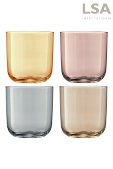 Set of 4 Polka Tumbler Glasses by LSA International