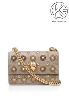 Серо-коричневая сумочка с ремешком через плечо Kurt Geiger London Shoreditch