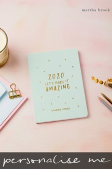 Personalised Amazing 2020 Diary by Martha Brook