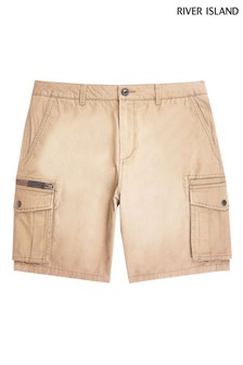 River Island Brown Cargo Shorts