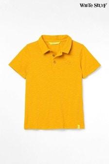 White Stuff Yellow Kids Peter Poloshirt