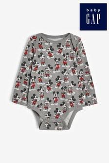 Gap Baby Disney™ Mickey Mouse™ Long Sleeve Bodysuit