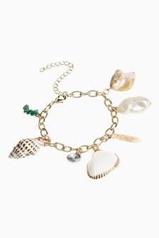 Shell Effect Charm Bracelet