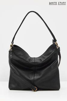White Stuff Emma Leather Hobo Bag
