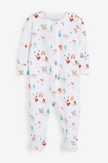 GOTS Organic Christmas Sleepsuit (0mths-2yrs)