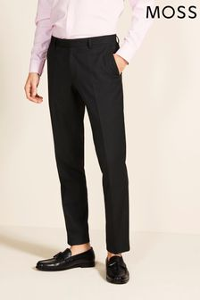 Moss 1851 Charcoal Stretch Tailored Fit Trousers