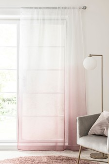 Pink Ombre Slot Top Single Voile Panel