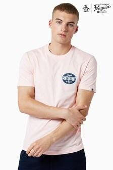 Original Penguin® Pink Short Sleeved Back Print T-Shirt