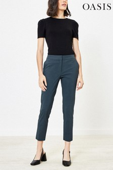 Oasis Grey Cigarette Trousers