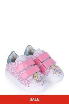 Monnalisa Girls Pink Alice In Wonderland Trainers