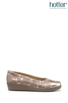 Hotter Gold Angel Slip-On Wedge Shoes