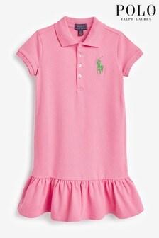 Ralph Lauren Pink Logo Polo Dress