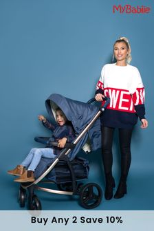 Billie Faiers Rose Gold and Navy Travel System by My Babiie