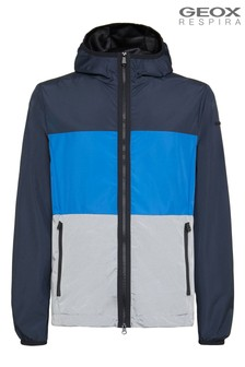 Geox Mens Grecale Blue Hood Jacket